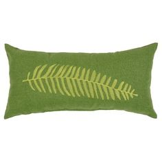 Lumbar Pillow - Embroidered Green Fern - Threshold™ : Target