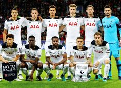 Spurs team picture before Leverkeusen game in the Champions League Oct 18, 2016