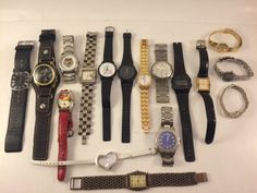 Watch Lot For Parts Or Repair Men's Women's Watches Fossil,  Casio