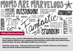 Join the National Partnership's week of action about #WhatMothersNeed! May 5 - 9, 2014