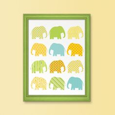 Use wrapping paper or fabric to cut shapes of animals and frame for art on wall of baby's room.