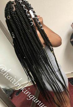Box Braid Hair, Big Box Braids, Box Braids Styling, Braids With Weave, Jumbo Box Braids, Box Braids Hairstyles, Easy Formal Hairstyles, Braided Hairstyles For Black Women, African Hairstyles