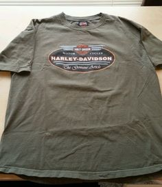 Harley Davidson Mens XL Basic T-Shirt New Castle DE 2000 in Clothing, Shoes & Accessories, Men's Clothing, T-Shirts   eBay