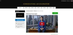 The Consulting Accelerator is a proven and tested 6 week online implementation program which teaches you exactly how to start a wildly profitable 6-7 figure consulting business...