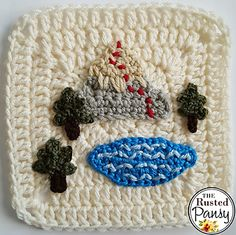 Ravelry: Lake Mountain Trail Applique pattern by The Rusted Pansy