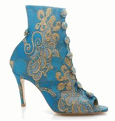 Silvia Campbell boots in BLUE Funky Shoes Hairline Illusions Loves http://hairlineillusions.com/