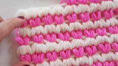 Kalpli Lif/ Battaniye / Puff Stitch Blanket