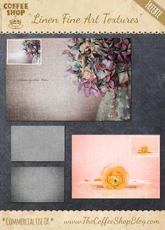 "The CoffeeShop Blog: CoffeeShop ""Fine Art Linen Texture Set"""