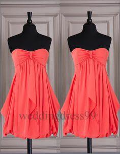 short bridesmaids dress on Wanelo