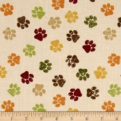 Designed by Jennifer Pugh for Wilmington Prints, this cotton print is perfect for quilting, apparel and home decor accents. Colors include ivory, burgundy, brown, orange, gold and green.