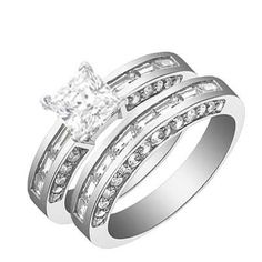 2.10 Carat Princess Diamond Engagement Ring Bridal Set Engagement Ring on 18K White Gold FineTresor. $1729.99. Highest Quality - Lowest Prices. We strive to provide our customers with highest possible customer service before and after the sale. Real Diamond jewelry at the most affordable prices possible