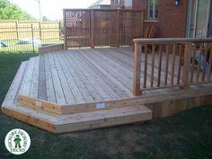 backyard deck ideas - small backyard