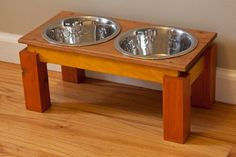 Wooden Dog Feeder by therfactor on Etsy, $69.00