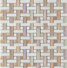 Interglass - Decorative Glass Tile - Ocre Weaves 12x12