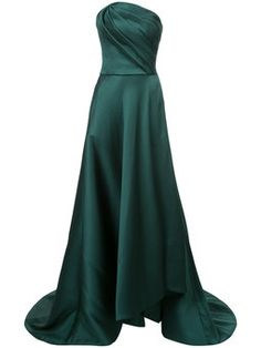 strapless asymmetric gown