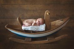 Newborn in Maine Rocking Dory Boat from Bella Luna Toys.   Thanks, Dawn for this beautiful photo of your beautiful grandchild!