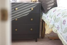 rast dresser ikea - painting and adding/changing knobs! I would love to be a little DIYer!