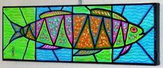 colorful fish artwork - Google Search