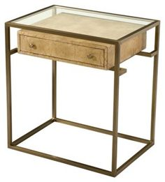 Air of Distinction Lamp Table, Parchment