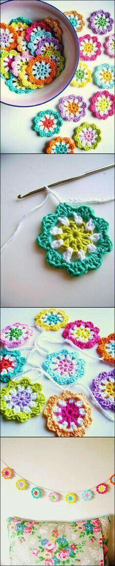 45 besten Flower patterns Bilder auf Pinterest | Blumen häkeln ...
