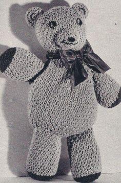 altes Häkelmuster-Teddybär