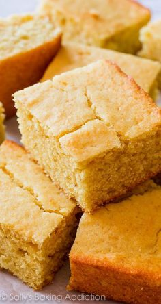 I tested several cornbread recipes and it ALWAYS comes back to this one. Best cornbread ever! I tested several cornbread recipes and it ALWAYS comes back to this one. Best cornbread ever! Best Cornbread Recipe, Buttermilk Cornbread, Homemade Cornbread, Sweet Cornbread, Cornbread Muffins, Homemade Breads, Southern Cornbread Recipe, Cornbread Salad, Moist Cornbread