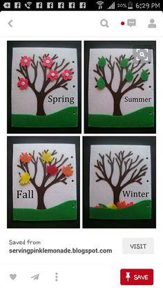 Seasons quiet book page