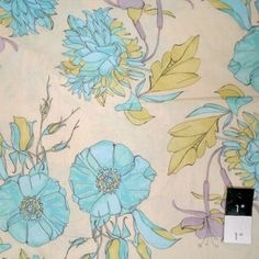 Tina Givens VTG01 Haven's Edge VOILE The Garden Turquoise Fabric By The Yard