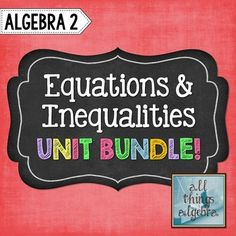 This bundle includes notes, homework assignments, two quizzes, a study guide and a unit test that cover the following topics:- The Real Number System- Properties Review (Commutative, Associative, Identify, Inverse, Distributive, Closure)- Order of Operations (Includes absolute value and square roots)- Evaluating Expressions (Includes absolute value and square roots)- Solving Multi-Step Equations- Literal Equations- Word Problems- Multi-Step Inequalities- Compound Inequalities- Absolute Value…