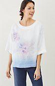 Pure Jill painted floral linen kimono | J.Jill
