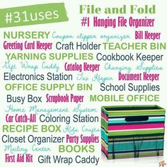 Thirty One Uses for the Fold N File