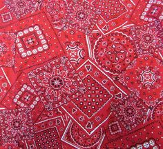 Red Bandana Design Western Crib Toddler Fitted Sheet 100% Cotton Bunk House…