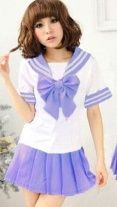 Japanese School Uniform - Newest Sexy Sailor Costumes 7 COLORS Anime Girls Dress Cosplay Costume