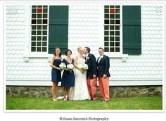 Wedding Party in Nantucket Red!