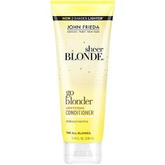 Sheer Blonde Go Blonder Lightening Shampoo by John Frieda gradually lightens blonde while nourishing hair to reveal your ideal sun kissed look all year long. Make Hair Lighter, How To Make Hair, John Frieda, Light Hair, Hair Shampoo, Bareminerals, Organic Beauty, Bath And Body