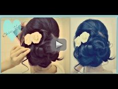 ?EASY PROM WEDDING HAIRSTYLES WITH CURLS| FORMAL . Learn how to do a bridal, party  style hairdo on
