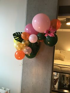 Balloon arch Balloon Arch, Balloons, Tropical Bridal Showers, Birthdays, Bride, Anniversaries, Wedding Bride, Globes, Bridal