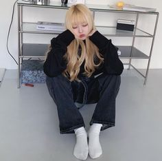 Blonde With Pink, Blonde Hair Girl, Cute Korean Boys, Girl Hairstyles, Ulzzang, Normcore, Wallpaper, Inspiration, Fashion