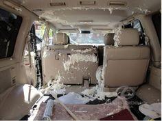 Что бывает, если забыть монтажную пену на жаре в машине
