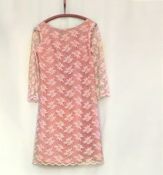 Pink cocktail antique dress  for  your by LaBellaepoque on Etsy, $248.00