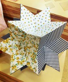 Como fazer estrela de tecido giramundo