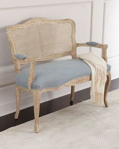 Shop Azure Cane Settee at Horchow, where you'll find new lower shipping on hundreds of home furnishings and gifts. Cane Furniture, French Furniture, Classic Furniture, Handmade Furniture, Rustic Furniture, Luxury Furniture, Vintage Furniture, Furniture Decor, Living Room Furniture