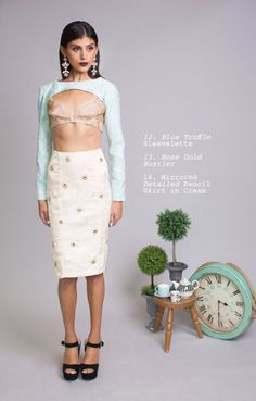In love with the skirt.   Udaipur Tea Party SS16 Collection by Mani Jassal