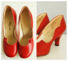 1940s 1950s Vintage Pumps with Kitten Heels in by ohlunevintage