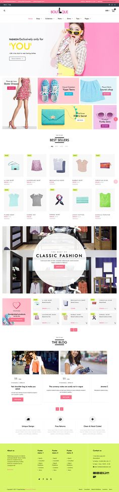 """""""Fashion Boutique"""" is a clean, pleasant theme for your Shopify store that stands out of the crowd. This stylish and fashionable Shopify theme ideal for creating a fashion store, gift shop, mobile store, clothing store, any fashion industry related project - https://themeforest.net/item/fashion-boutique-responsive-shopify-theme/19973891?ref=rabosch"""