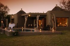 Sabi Sabi Private Game Reserve, Kruger National Park. What an interesting building.
