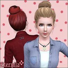 Sims 3 hair, hairstyle, genetics, female