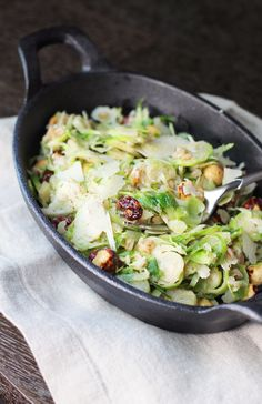 Brussel Sprout Salad with Cherries
