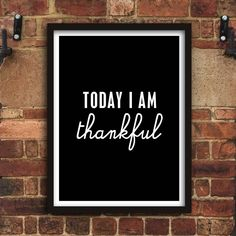 Today I Am Thankful http://www.amazon.com/dp/B016N1KRVG Amazon Handmade Wall Art Home Decor Inspiration @Amazon