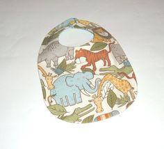 Baby Bib - Organic Cotton Jungle Print, $8 | Pasque Flower Creations | Locabal.com #baby #bib